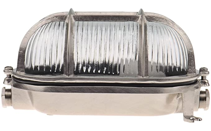 041b7543fd9 Navi Brass bulkhead oval outdoor waterproof light Nautical marine wall lamp  Industrial light Silver