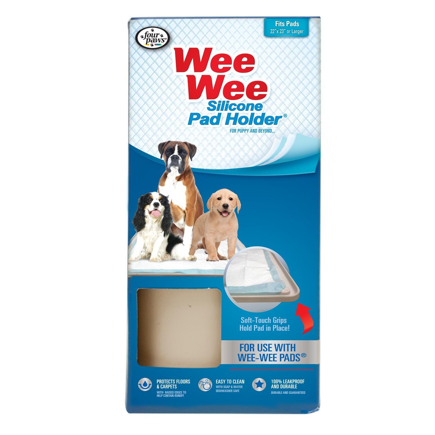four paws wee wee on tar puppy dog trainer tray