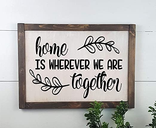 Christmas_SIGNS Home is Where We Are Together - Cartel de ...