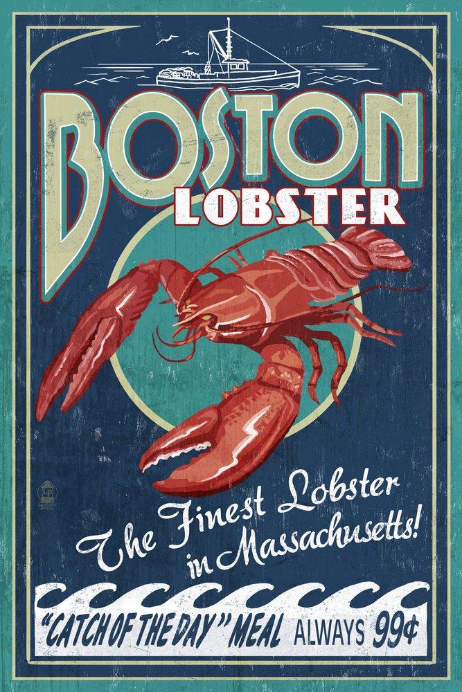 結婚祝い ボストン ロブスター、マサチューセッツ州 – Signed ロブスター ビンテージサイン 11 x 24 14 Matted Art Print LANT-40682-11x14M B07B2CYDBR 16 x 24 Signed Art Print 16 x 24 Signed Art Print, スマホケースアップルライフ:36401a06 --- mcrisartesanato.com.br