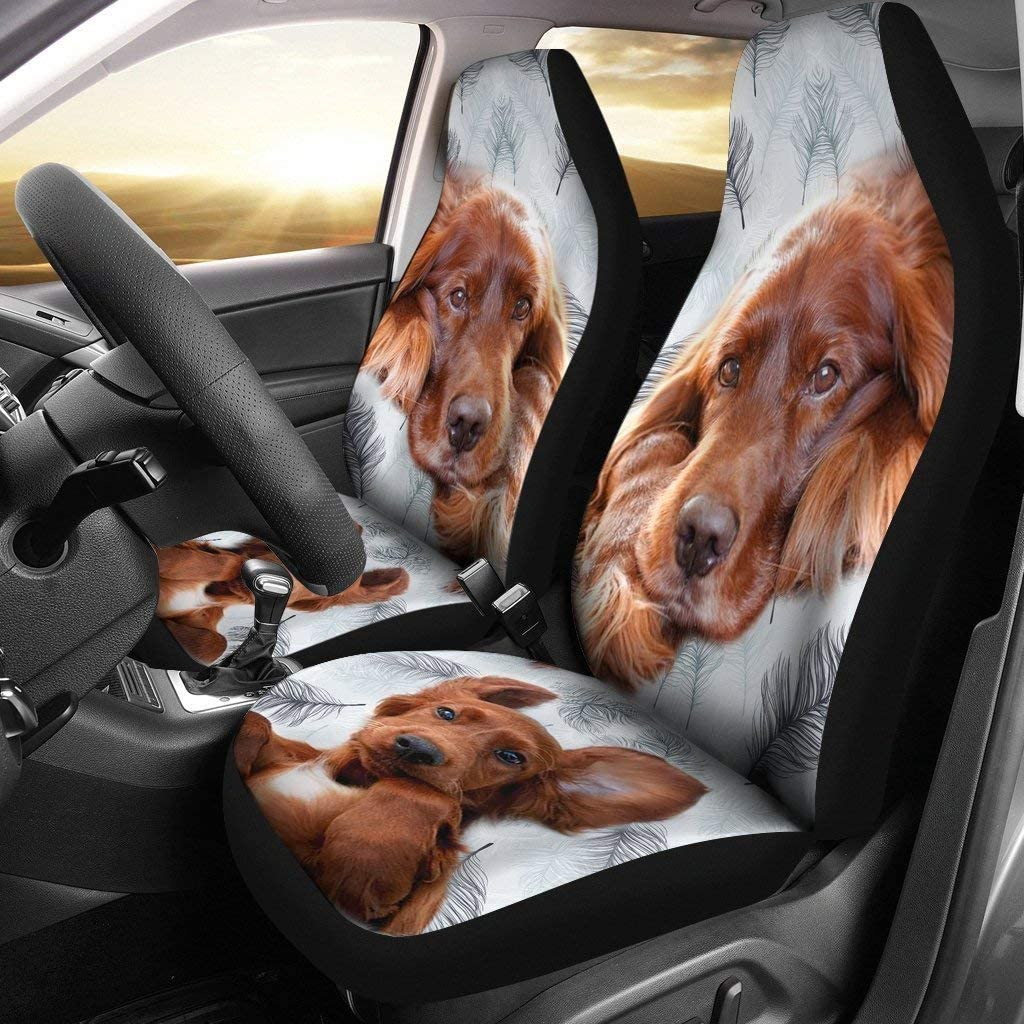 Paws With Attitude Irish Setter Dog Print Car Seat Covers