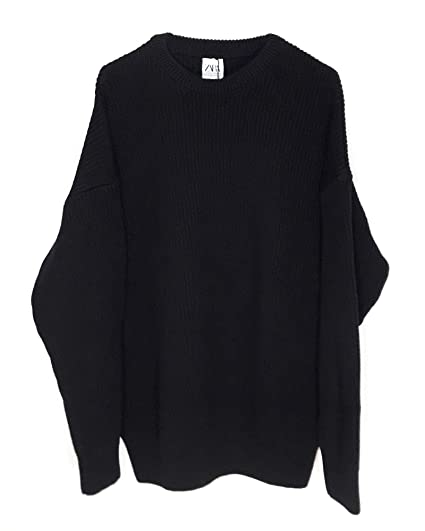 47cf18c64a Zara Men s Oversized Sweater 3597 400 Black  Amazon.co.uk  Clothing