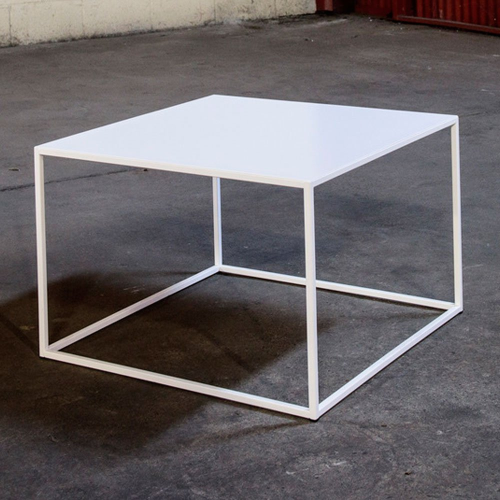 24 X 24 Coffee Table.Amazon Com White Steel Coffee Table Minimal Design 24 X 24 X