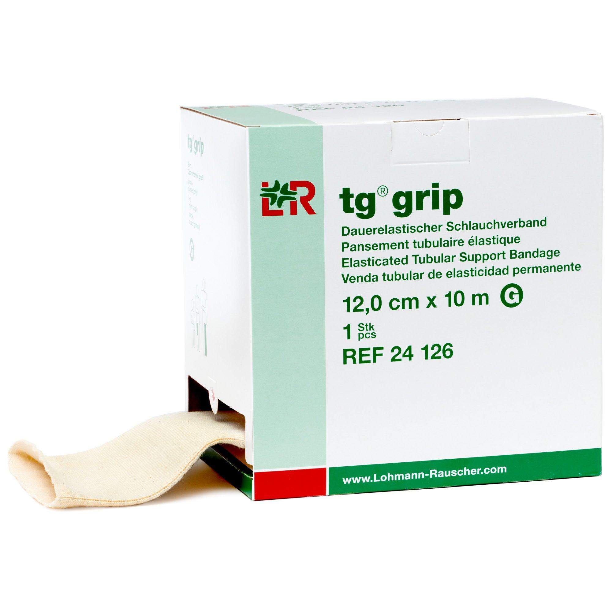 tg Grip Elastic Tubular Compression Bandage, Seamless Tube Stockinette Wrap for Retention, Lymphedema, Swelling, 85% Cotton, Washable & Reusable, Size G