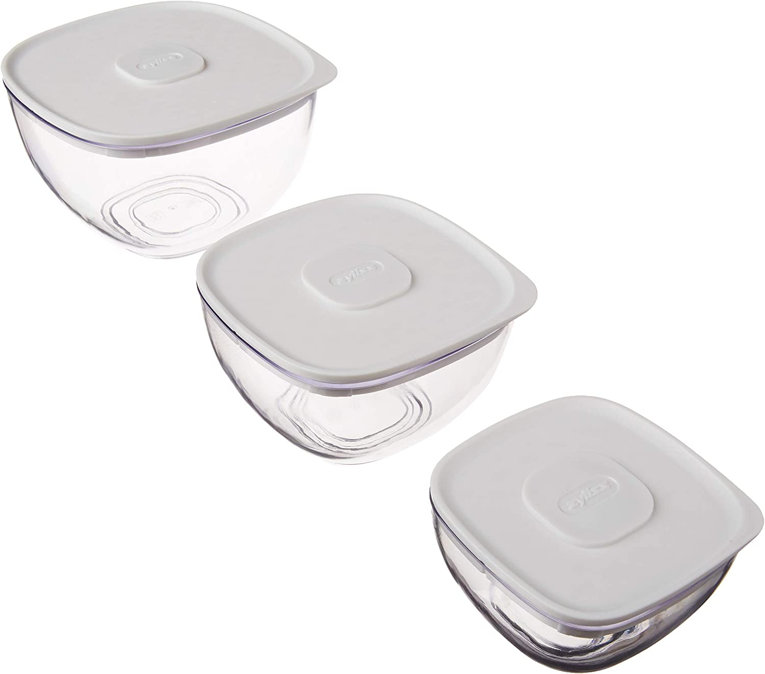 Zyliss 3-Piece Food Keeper Value Set, Sm, Md, Lg, Clear