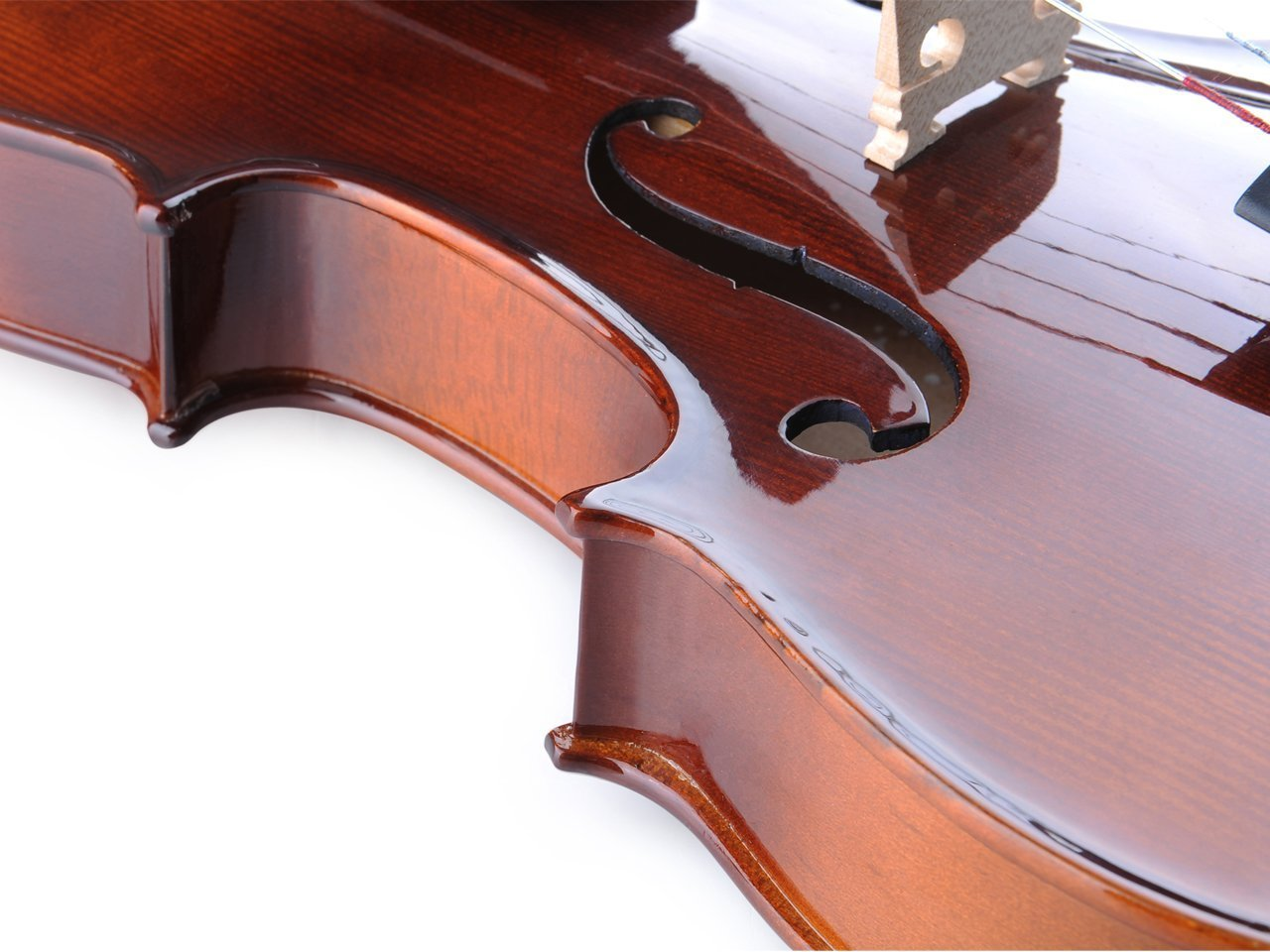 ADM Acoustic Violin 1/2 Size with Hard Case, Beginner Pack for Student, Red Brown by ADM (Image #6)