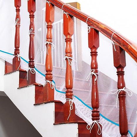 babamate seguro Rail – barandillas balcón interior y red de seguridad escalera – escalera – red de seguridad infantil; mascotas Seguridad neto; escaleras pantalla blanco blanco Talla:(6.5ft x 2.6ft)X1pcs: Amazon.es: Bebé