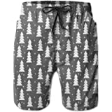 Bing4Bing Christmas Tree Black Summer Fast Dry Beach Men Beach Shorts
