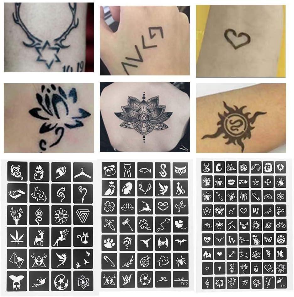 Set de tatuajes, plantilla de tatuaje, arte corporal, modelos ...