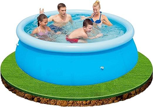 elitezotec Piscina de jardín grande de 2,4 m para niños divertida familia natación al aire libre inflable verano: Amazon.es: Jardín