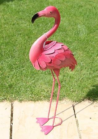 Flamant rose deco jardin for Decoration de jardin animaux metal