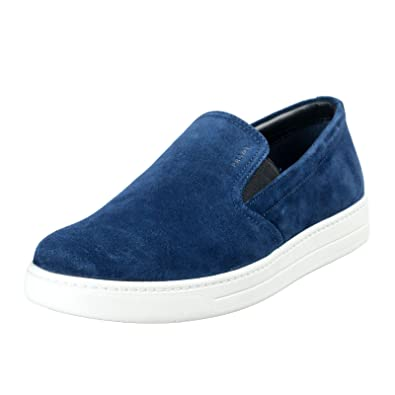 cf080e640 2dcf6 9ffc9; get prada mens navy blue suede leather loafers slip on shoes  sz us 8.5 it 7.5