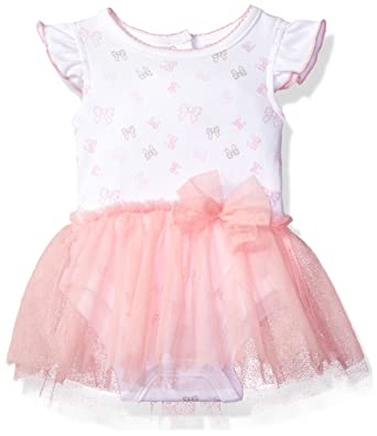 c09d60a84a4 Amazon.com: Sterling Baby by Vitamins Baby Girls' Flutter Sleeve Bow Print  Tutu Dress: Clothing