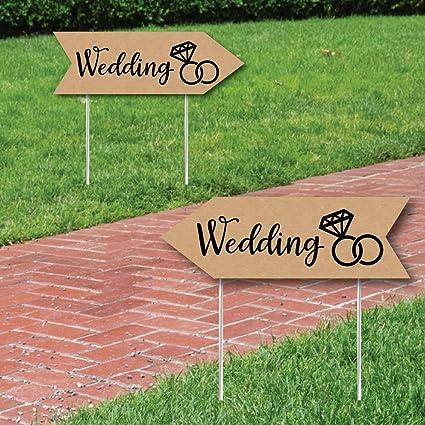 Amazon.com: Rústico boda signos – Boda Signo Flecha ...