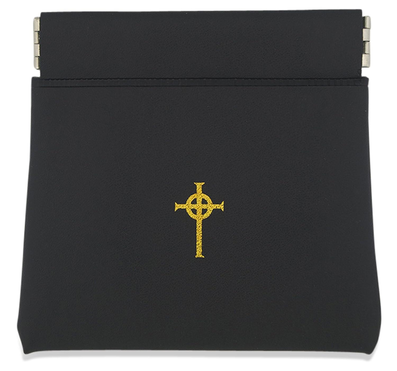 Amazon.com: cartera Bolsa de estilo rosario con cruz celta ...