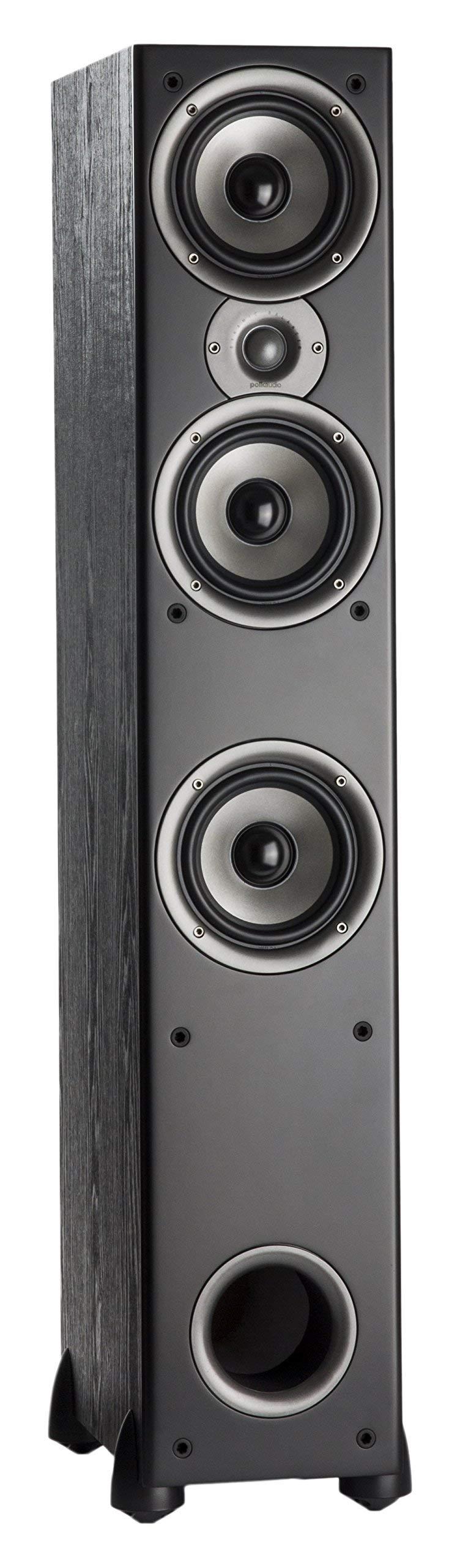 Polk Audio Monitor 60 Series II Floorstanding Speaker - Bestseller for Home Audio   Big Sound,   Affordable Price   1 (1-inch) Tweeter and 3 (5.25-inch) Woofers   Black, Single (Renewed)