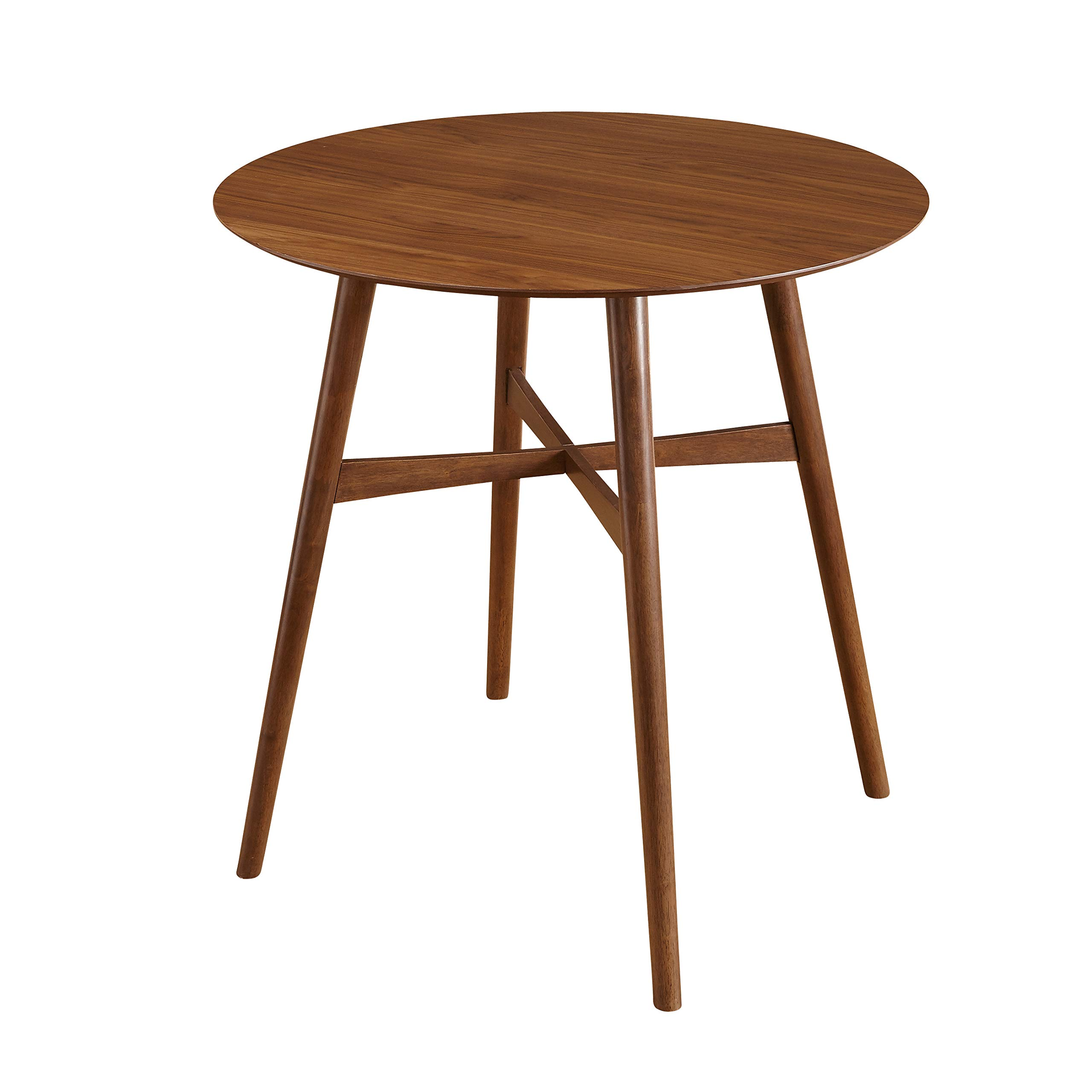 TMS AXEL Mid Century Modern Round Pub Table, 42'' W, Walnut by TMS