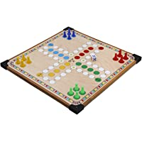 Aakash Sports Wooden Snakes and Ladder with Dice and Tokens (12X12)