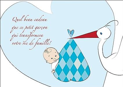 Mignonne Carte De Bébé Garcons Carte De Félicitations