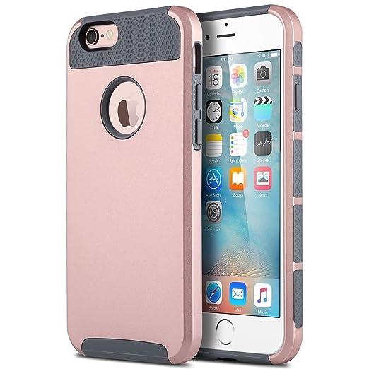 3 opinioni per iPhone 6 Custodia, iPhone 6s Custodia ULAK Doppio Strato Portatile Custodia