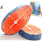 New Arrival Washable Amusing Simulation Tasty Salmon Fish Sushi Pillow Cushion Home Decor