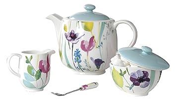 Portmeirion Water Garden Tea Set MultiColour 3Piece Amazonco