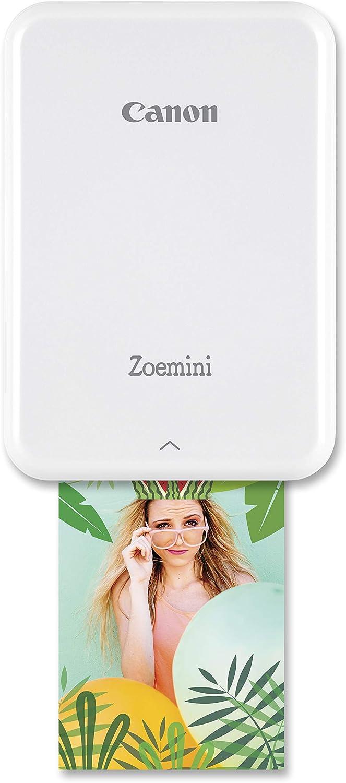 Canon Zoemini Pv-123 - Mini Impresora (Bluetooth, USB, 314 x 600 PPP, Canon Mini Print) Color Blanco