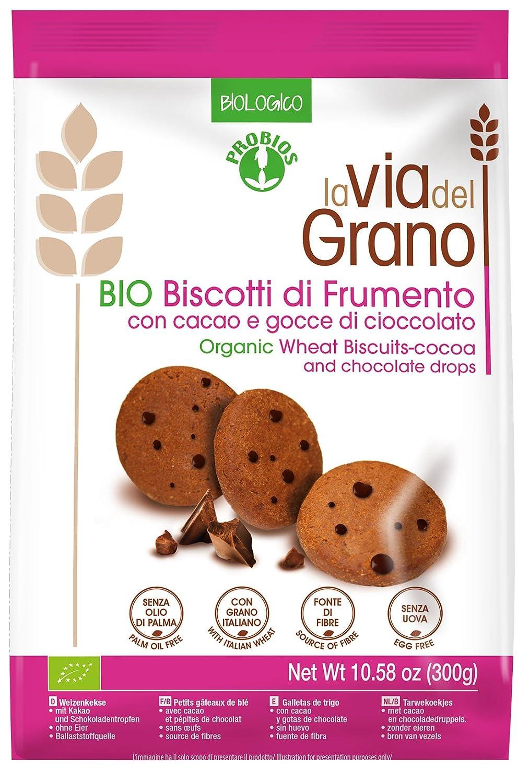 Probios La Via Del Grano Galletas de Trigo con Gotas de Chocolate - 10 paquetes: Amazon.es: Alimentación y bebidas