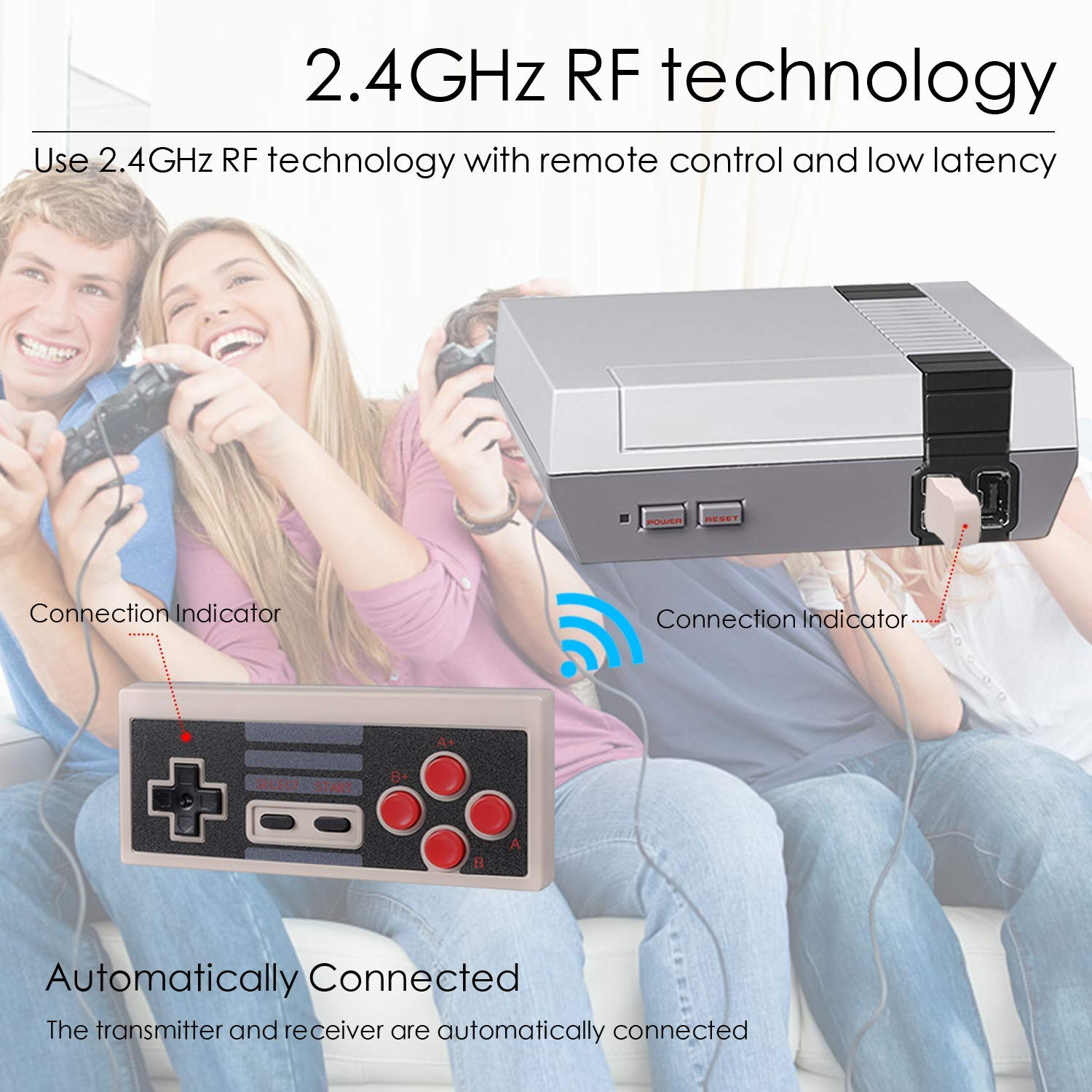2 Pack NES Classic Wireless Controller, Nintendo Classic Controller Gamepad Joypad for Nintendo NES Classic Edition (NOT for SNES Super Nintendo Classic Edition) by Lxuemlu (Image #7)
