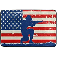 Original 1960'S American Soldier Flag Door Mat Rug Indoor/Outdoor/Front Door/Shower Bathroom Doormat, Non-Slip Doormats,