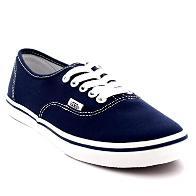 Vans Womens Authentic Lo Pro Plimsolls Low Top Skate Shoes Sneakers - Navy True  White a22528fa2