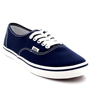 e4e7cf291ad Vans Womens Authentic Lo Pro Plimsolls Low Top Skate Shoes Sneakers - Navy True  White