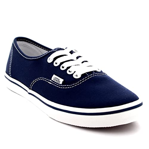 Vans Womens Authentic Lo Pro Plimsolls Low Top Skate Shoes Sneakers - Navy True  White 2756943d6
