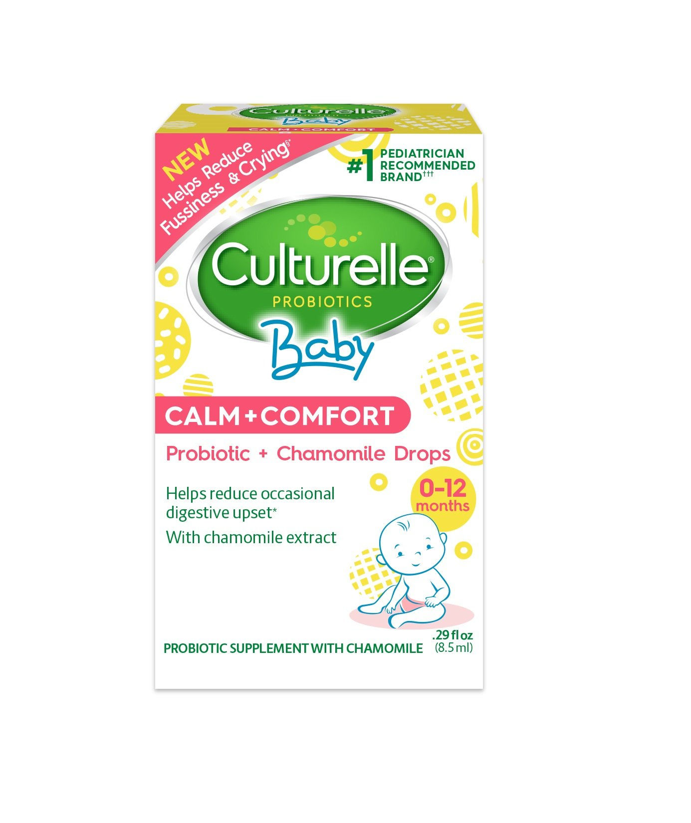 Culturelle Baby Calm + Comfort Probiotics + Chamomile Drops   Helps Reduce Occasional Infant Digestive Upset, 0.29 fl. oz. Drops by Culturelle