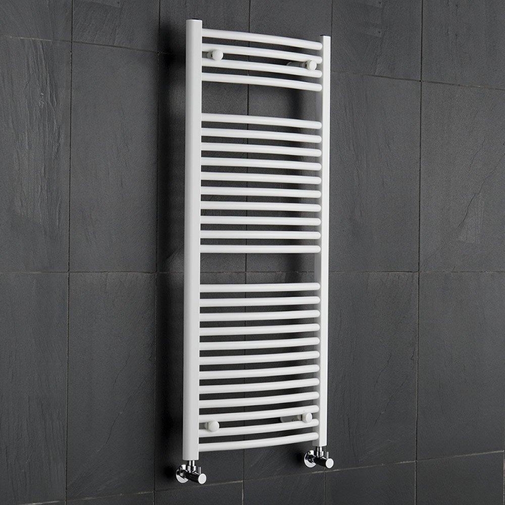 Hudson Reed Radiador Toallero Curvo Acero Blanco Para Baño  Cocina x