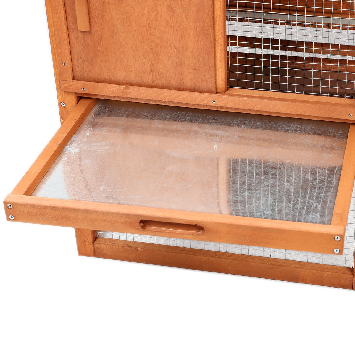 Magshion Wooden Chicken Coop Rabbit Bunny Hutch Pet Cage Wood Small Animal Poultry Cage Run Indoor by Magshion (Image #5)