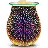 Glass Electric for Home Office Bedroom Living Room Gifts & Decor (3D Fireworks)