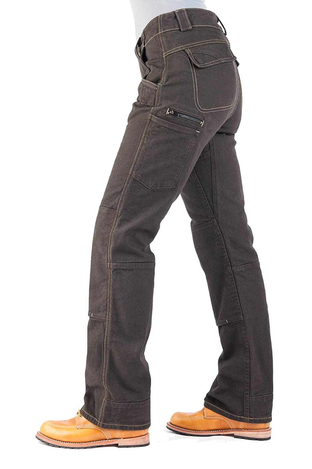 Durable Stretch Canvas Cargo Pant Dovetail Workwear Utility Pants for Women Day Construct Relaxed Fit