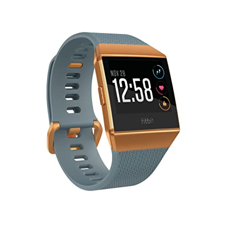 Fitbit Ionic GPS Smart Watch, Slate Blue/Burnt Orange, One Size (S & L Bands Included)