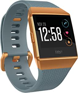 Fitbit Ionic Health & Fitness Watch with GPS, Heart Rate, Music, Sleep & Swim Tracking - Blue/Burnt Orange