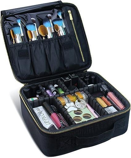 ChomeiuSamtour - Estuche de maquillaje profesional para cosméticos, organizador de maquillaje, caja de accesorios, caja de herramientas (negro-M), Negro-M, 1 uds. por paquete, 1.00[set de ]: Amazon.es: Belleza