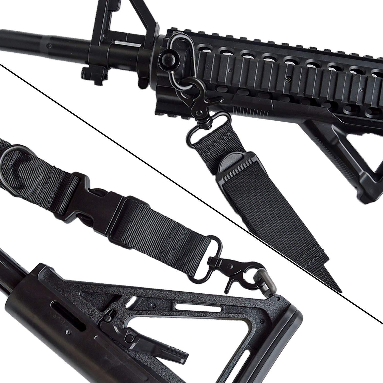 Rifle Sling Correa de Rifle de 2 Puntos para Pistola de Dos a uno con Clips de rotaci/ón ampliados