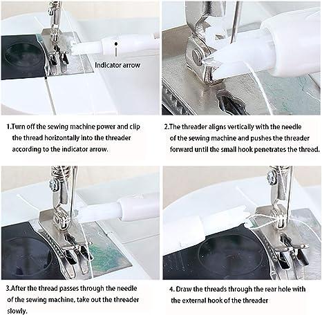 lefeindgdi Auto Needle Threader Durable Self Threading Needles Hand Sewing Needles Convenient Automatic Needle Threading Tool for Sewing