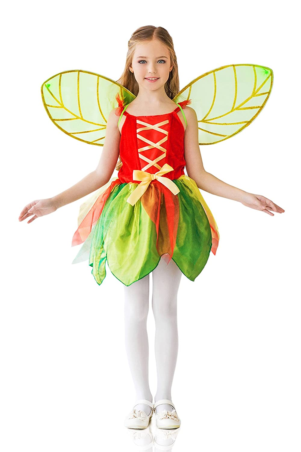 MASQUERADE FANCY DRESS PARTY GREEN PIXIE WINGS FOR GIRLS AND YOUNG ADULTS NEW