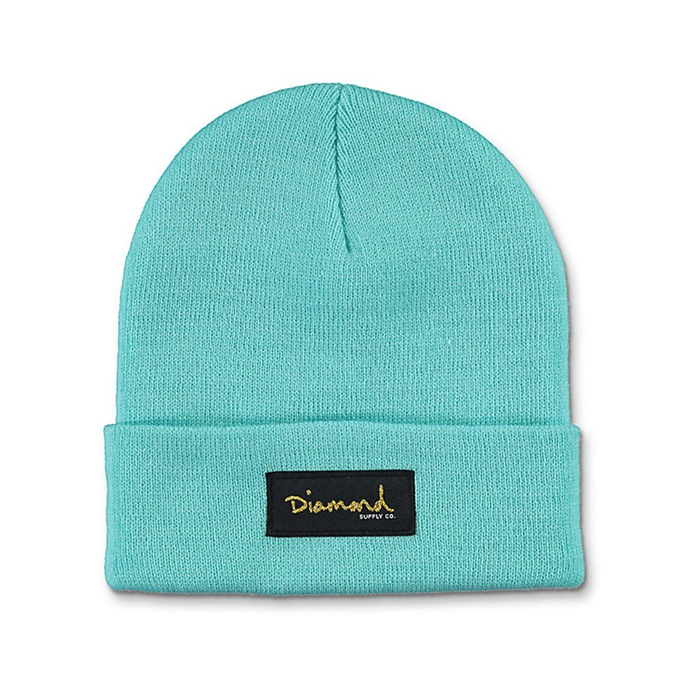 844d6cfbfd2 Amazon.com  Diamond Supply CO Skateboard Beanie OG Script Diamond Blue (One  Size Fits All)  Sports   Outdoors