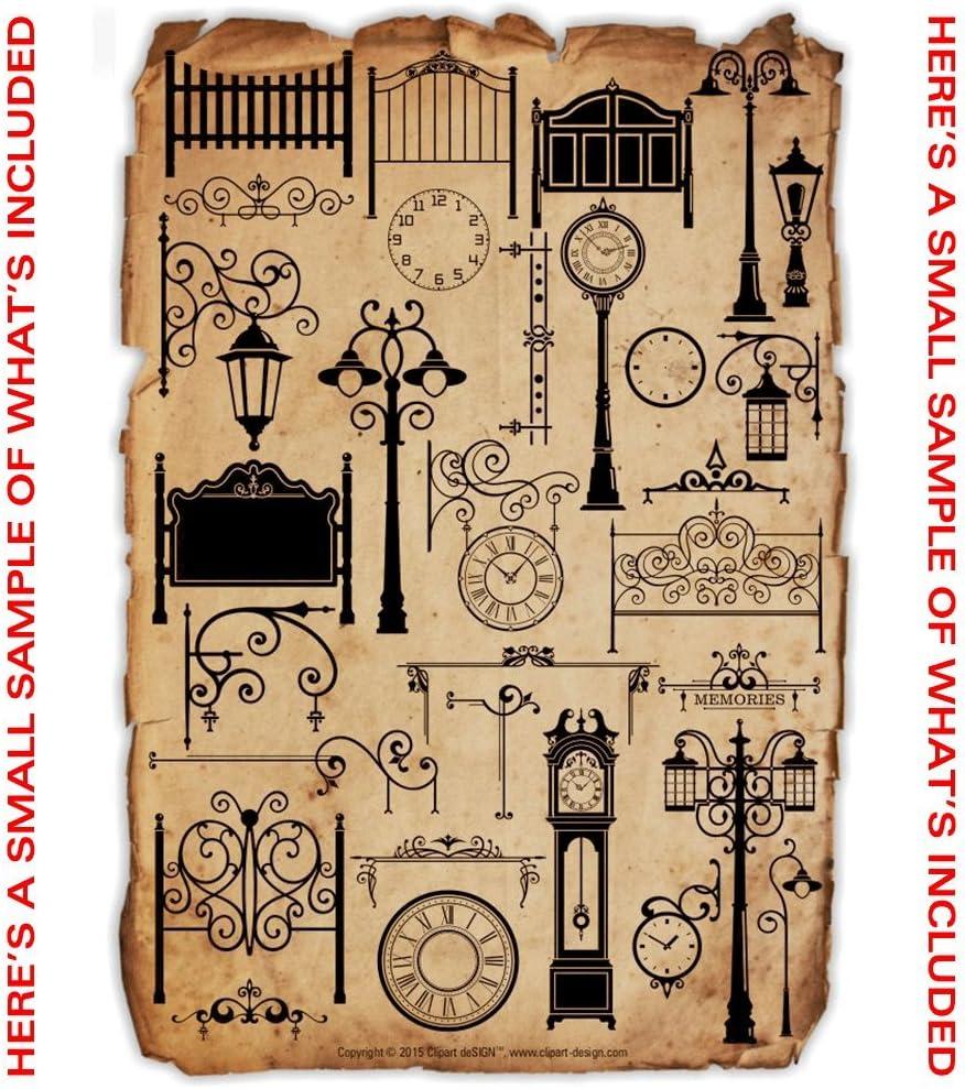 Arte de la pared decal-sticker clipart-vinyl Cutter Plotter images-vector Clip Art Graphics CD: Amazon.es: Software