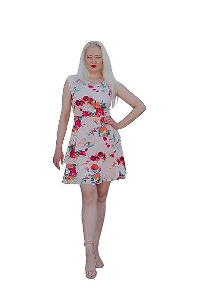 Amazon.com: WNB Designs Vestido de flores rosas para mujer ...