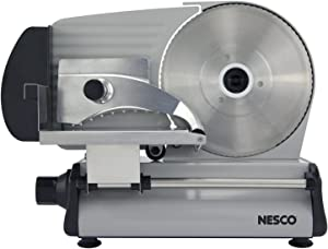 NESCO FS-250, Stainless Steel Food Slicer, Adjustable Thickness, 8.7″
