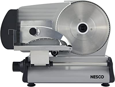 NESCO FS-250, Stainless Steel Food Slicer, Adjustable Thickness, 8.7