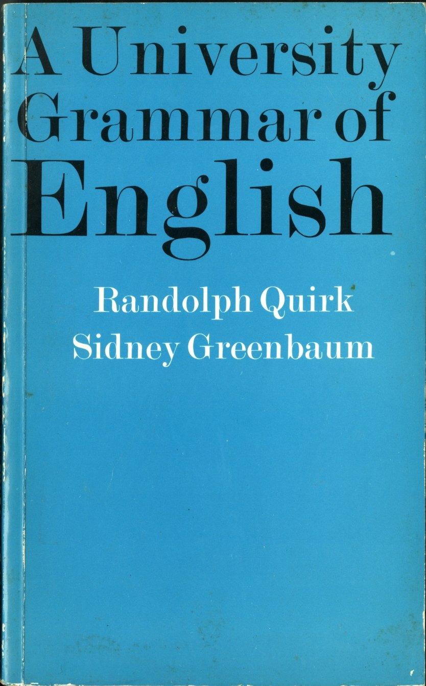 gratuit a university english of grammar quirk